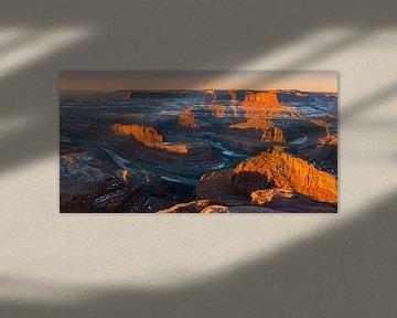 Winter Sonnenaufgang Dead Horse Point State Park, Utah