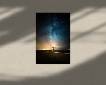 Melkweg boven Westkapelle van Tim Kreike