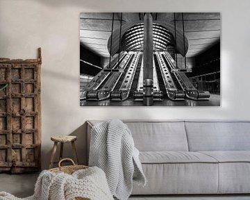 Canary Wharf Rolltreppe, London von Adelheid Smitt