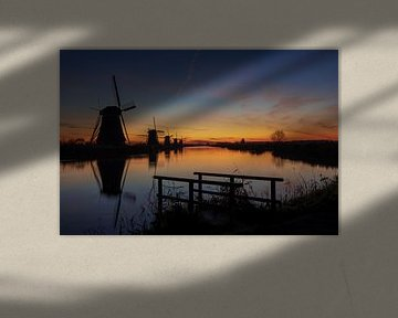 Kinderdijk Mühlen bei Sonnenaufgang