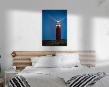 Der Leuchtturm von Texel am Abend