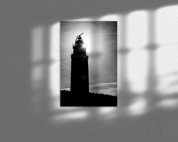 Der Leuchtturm von Texel mit Hintergrundbeleuchtung von Pieter van Dieren (pidi.photo)