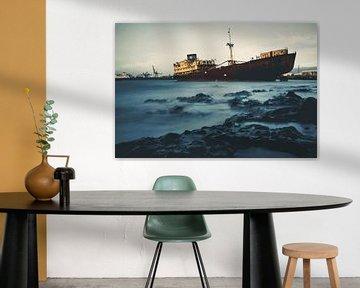 Telamón-Schiffbruch im Hafen von Arrecife von Daan Duvillier