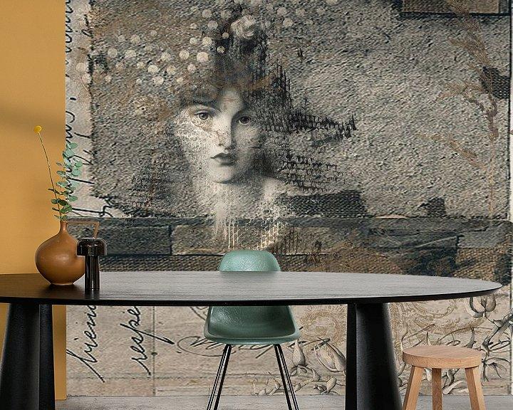 Sfeerimpressie behang: Beauty isn't about having a pretty face. van Studio Papilio