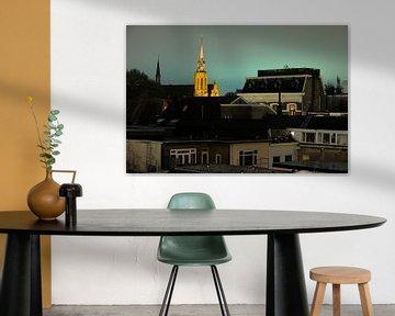 Stadsgezicht van Utrecht met de Catharijnekerk (3) von Donker Utrecht