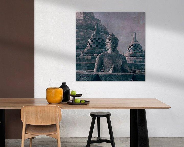 Sfeerimpressie: Boeddha en stupa's Borobudur Indonesië van Studio Papilio