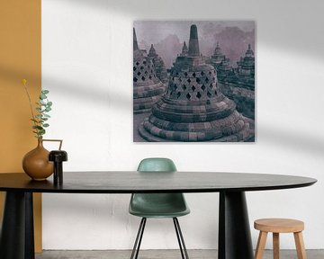 Stupa Borobudur Indonesië van Studio Papilio