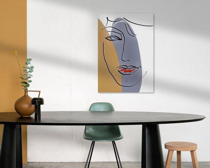 Beispiel: Gesicht Abstrakte Linien von Marion Tenbergen