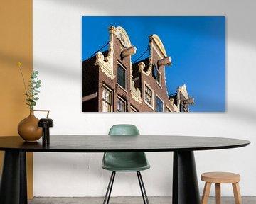 Hausfassade in der Prinsengracht von Amsterdam von Werner Dieterich