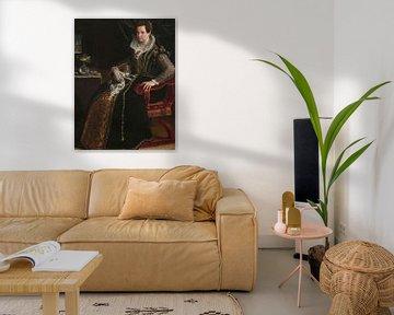 Porträt von Costanza Alidosi, Lavinia Fontana