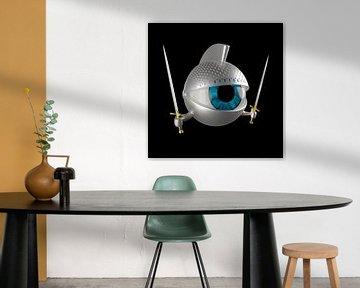 Ritter-Auge mit Schwertern und Rüstung von Jörg Hausmann