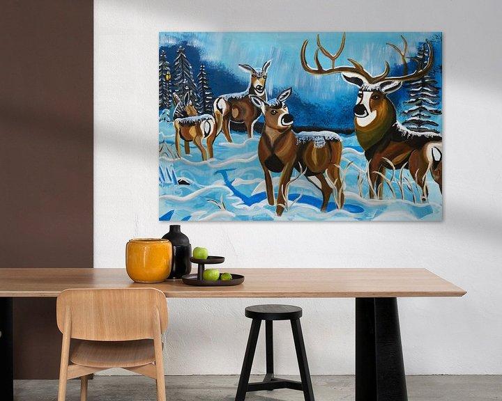 Sfeerimpressie: winterlandschap van Freds Atelier