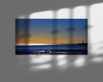 Crépuscule - soirée à la mer sur Dirk H. Wendt