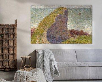 Studie für Le Bec du Hoc, Grandcamp, Georges Seurat