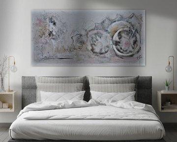Abstract schilderij zachtheid van Kunstenares Mir Mirthe Kolkman van der Klip