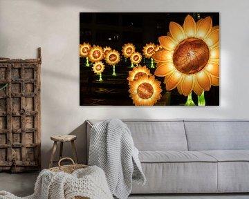 Zonnebloemen van Van Gogh van Jasper Scheffers