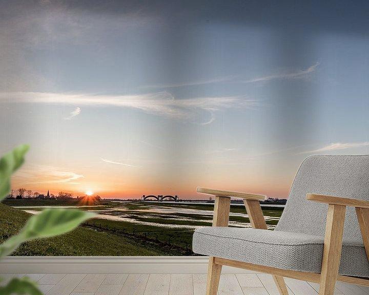 Beispiel fototapete: Sonnenuntergang in Driel von Daan van Oort