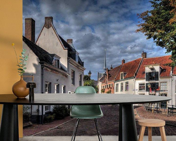 Sfeerimpressie behang: Havik historisch Amersfoort van Watze D. de Haan