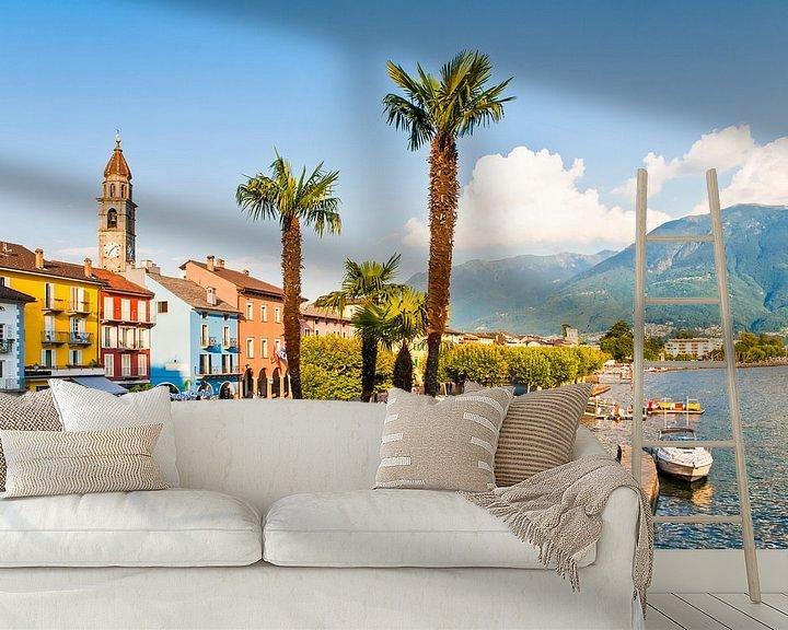 Beispiel fototapete: Ascona am Lago Maggiore in der Schweiz von Werner Dieterich