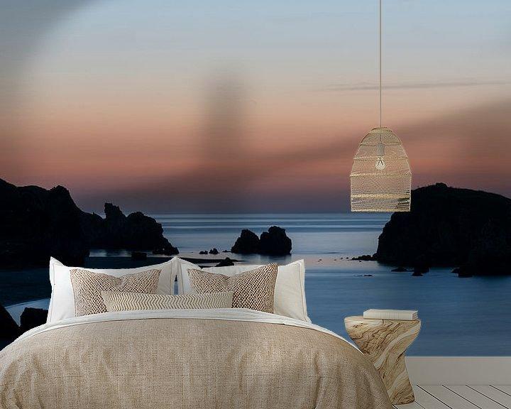 Sfeerimpressie behang: Zonsondergang Zwarte Zee van Daan Kloeg