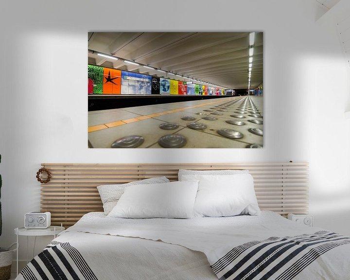 Sfeerimpressie: Metrostation Brussel van Mark Bolijn