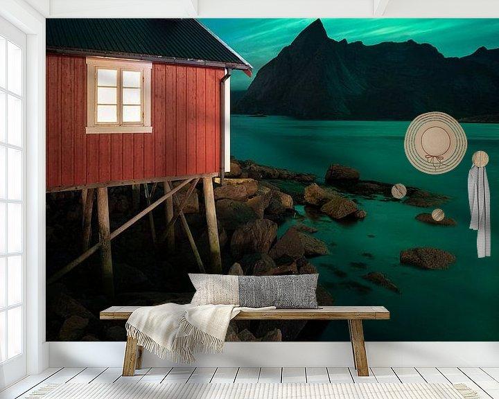 Sfeerimpressie behang: Room with a view van Edwin Mooijaart