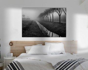 Deich im Nebel von Joerg Keller