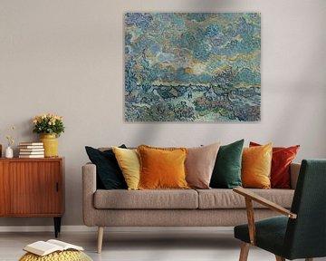Hütten und Zypressen, Erinnerung an den Norden, Vincent van Gogh
