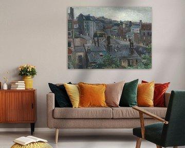 Blick aus Vincents Studio, Vincent van Gogh