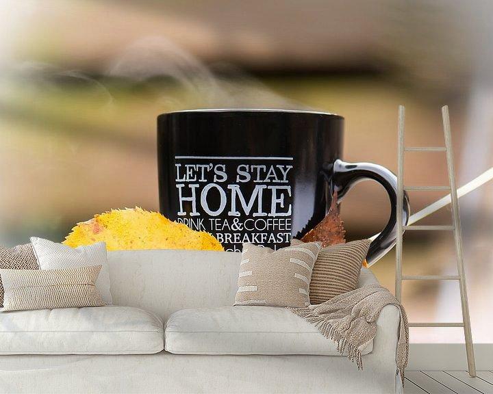 Impression: café chaud, automne froid sur Tania Perneel
