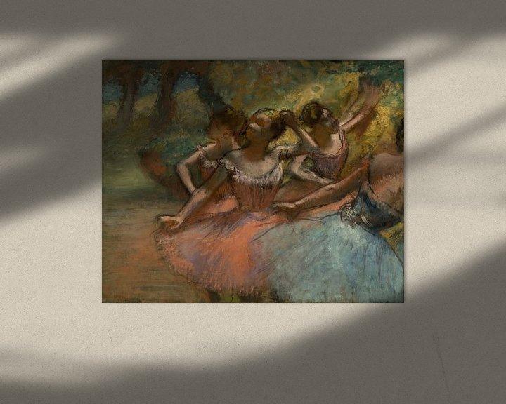 Beispiel: Vier Balletttänzer auf der Bühne, Edgar Degas