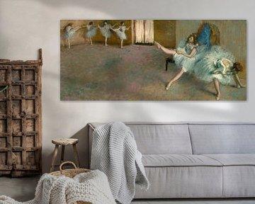 Vor dem Ballett, Edgar Degas