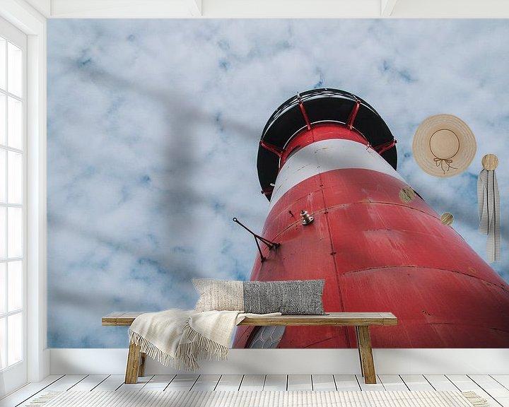Sfeerimpressie behang: Vuurtoren Noorderhoofd van Stedom Fotografie
