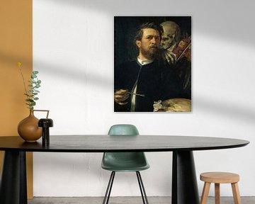 Selbstbildnis mit dem Tod auf der Geige, Arnold Böcklin
