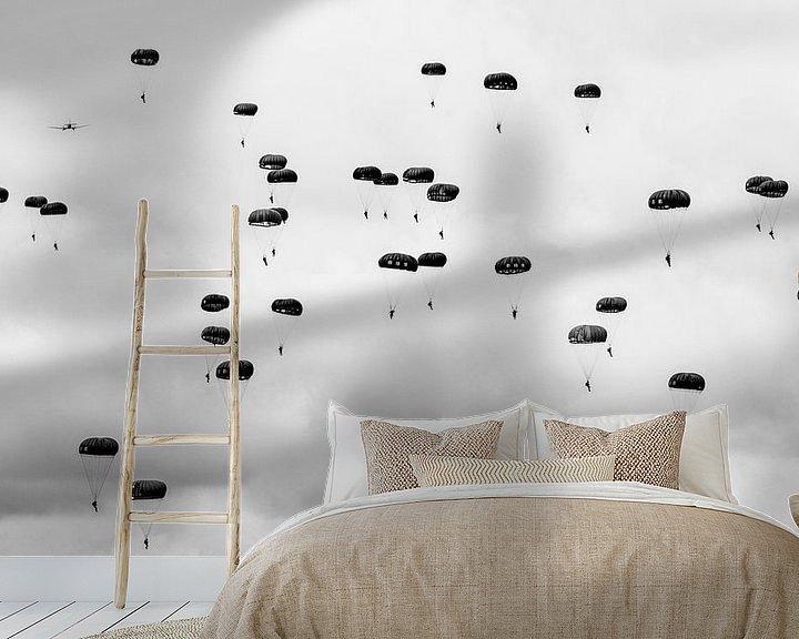 Sfeerimpressie behang: Paratroopers van Cor Ritmeester