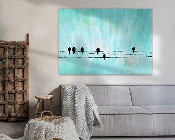 Birds on a wire 11 von Maria Kitano
