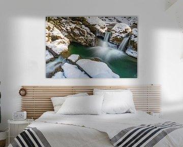 Waterval in Ostertaltobel van MindScape Photography