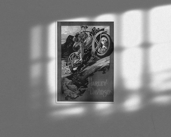 Sfeerimpressie: poster Harley Davidson van harley davidson