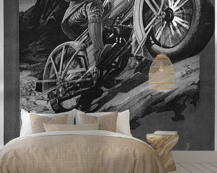 Sfeerimpressie behang: poster Harley Davidson van harley davidson