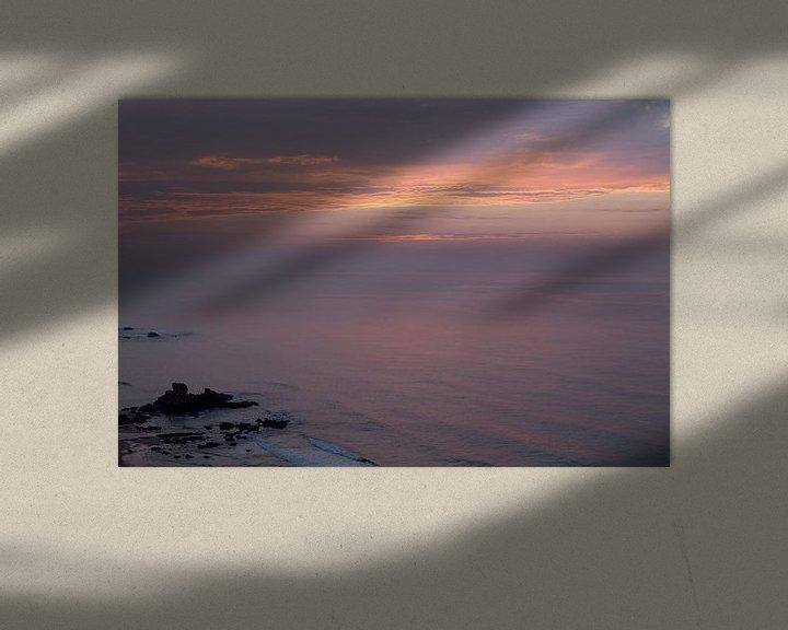 Sfeerimpressie: Zonsondergang bij zee van Jacqueline Lemmens