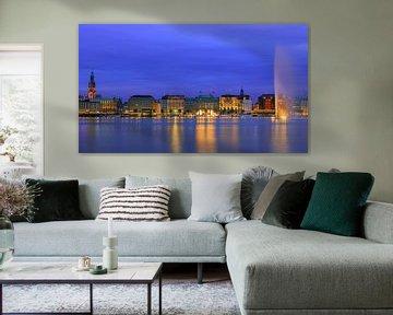 Binnenalster, Hamburg, Duitsland