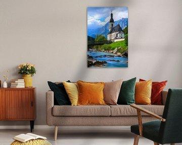 St. Sebastian Kerk, Ramsau, Berchtesgaden, Duitsland