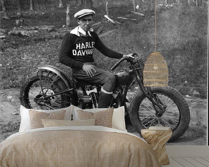Sfeerimpressie behang: Hilclimber Harley Davidson van harley davidson