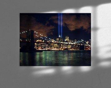 New York sky line op 9/11 911