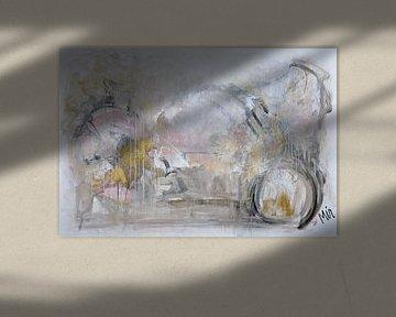 Golden Touch Abstrakte Malerei von Kunstenares Mir Mirthe Kolkman van der Klip