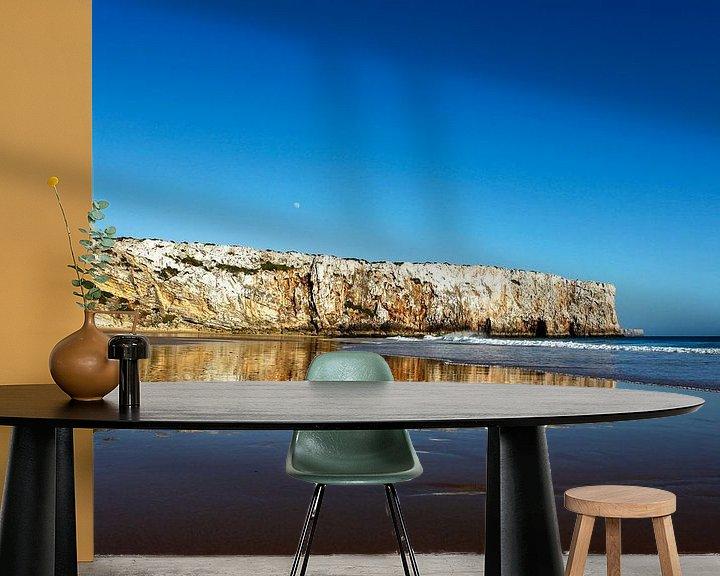 Sfeerimpressie behang: Praia do Beliche - prachtig strand van Jacqueline Lemmens