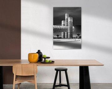 Architektur-Collage des Gebäudes in Spanien von Marianne van der Zee