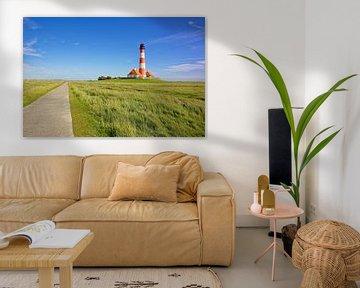 Leuchtturm Westerheversand von Gisela Scheffbuch
