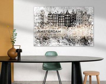 AMSTERDAM Collage sur Melanie Viola