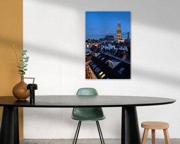 Stadsgezicht van Utrecht met Domkerk en Domtoren von Donker Utrecht